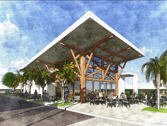 A rendering of the future Fishers restaurant, a redevelopment