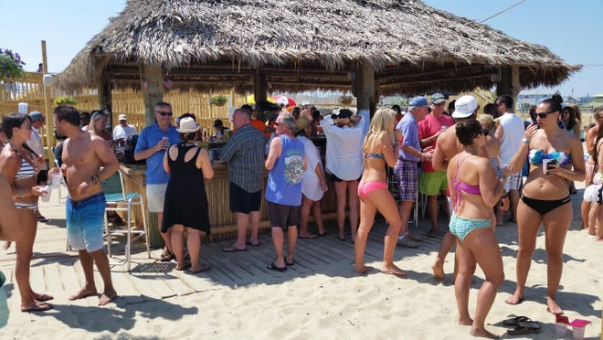 The scene at Donovan's Reef in Sea Bright shortly after reopening on Friday, July 10.