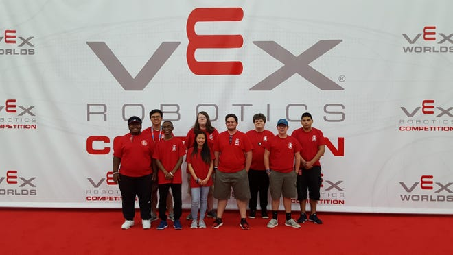The Ridgeland High School Titan Robotics Club recently attended the attended the 2017 VEX World Robotics Championship in Louisville, Kentucky. The team progressed further than any Mississippi team ever has before, ranking in the top 6 percent of teams in the world.