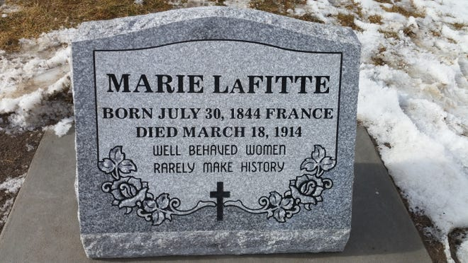 The headstone of Marie LaFitte, Fort Collins's most notorious madame, sits in Grandview Cemetery. Fort Collins Tours fronted the money for the stone to honor LaFitte.