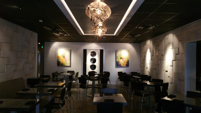 The main dining room at dish Creative Cuisine in uptown Palm Springs.