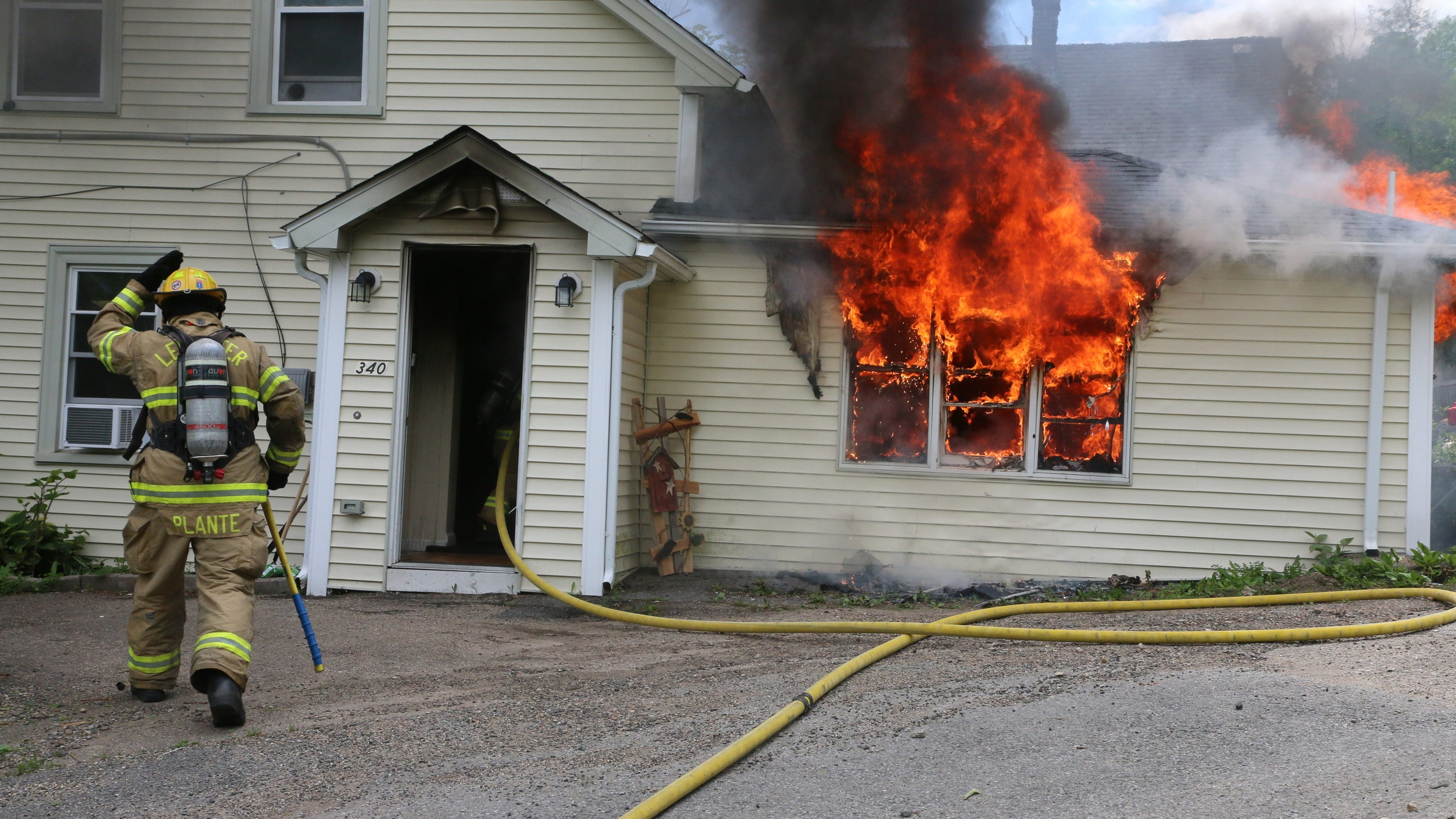House Fire Displaces Leicester Family