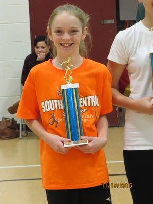 Lainne Glenn of McConnellsburg won the PA Elks Soccer Shoot championship in the girls  U14 bracket, scoring 40 goals.