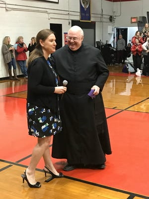 Stella Arabie-Delcambre was introduced this week as the new principal of Catholic High in New Iberia.