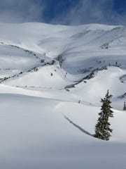 Covered by snow, the Worm Flows at Mount St. Helens is a great place to explore.