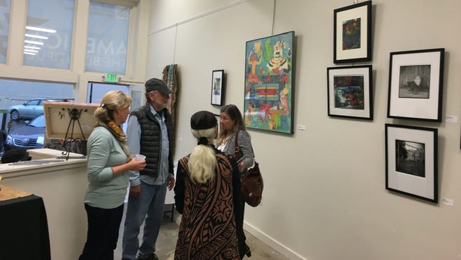 The Women's Art Collective exhibit is on display at the Hattiesburg Arts Council's open studio in the America Building on Front Street.