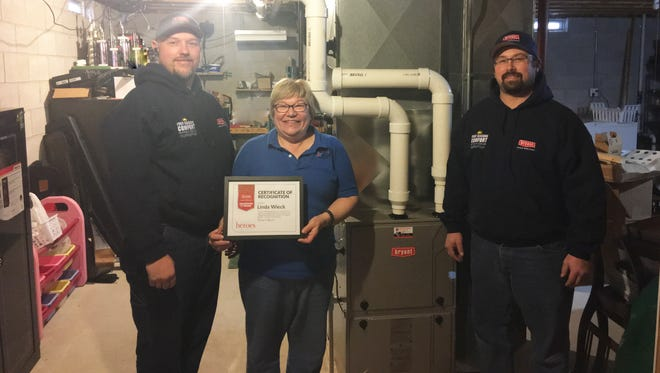 Linda Wieck was chosen as this year's Community Hero by Four Seasons Comfort and Bryant Heating & Cooling.