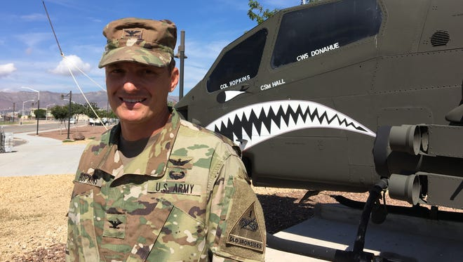 Col. Jay Hopkins is the new commander of the Combat Aviation Brigade at Fort Bliss.
