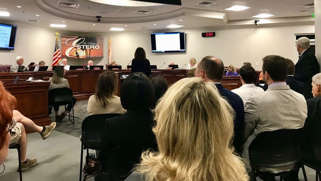 The Estero Planning and Zoning Board met Tuesday, Jan. 16, in front of a full house at the Village Hall. The board heard from NCH Healthcare System and its plans for an emergency room near Coconut Point.