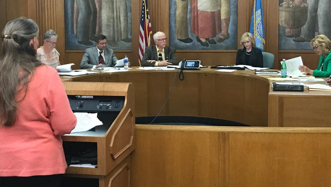 Councilor Theresa Stehly Thursday asked the Sioux Falls Board of Ethics to provide an advisory opinion on the question of whether elected officials can be involved with municipal petition drives.