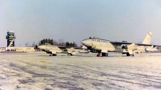 A Boeing B-47 Stratojet of the 100th Bomb Wing is seen at Pease Air Force Base in this undated photo. U.S. Sens. The former Air Force base in Portsmouth and Newington is one of more than 600 military installations in the United States contaminated by PFAS.