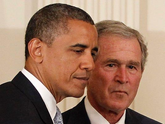 Obama, Bush