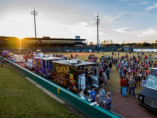 The Food Truck Mash-Up at Riverwalk Stadium in downtown