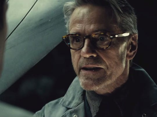"""Jeremy Irons is Alfred, Batman's former butler and technology wizard in """"Batman v. Superman."""""""
