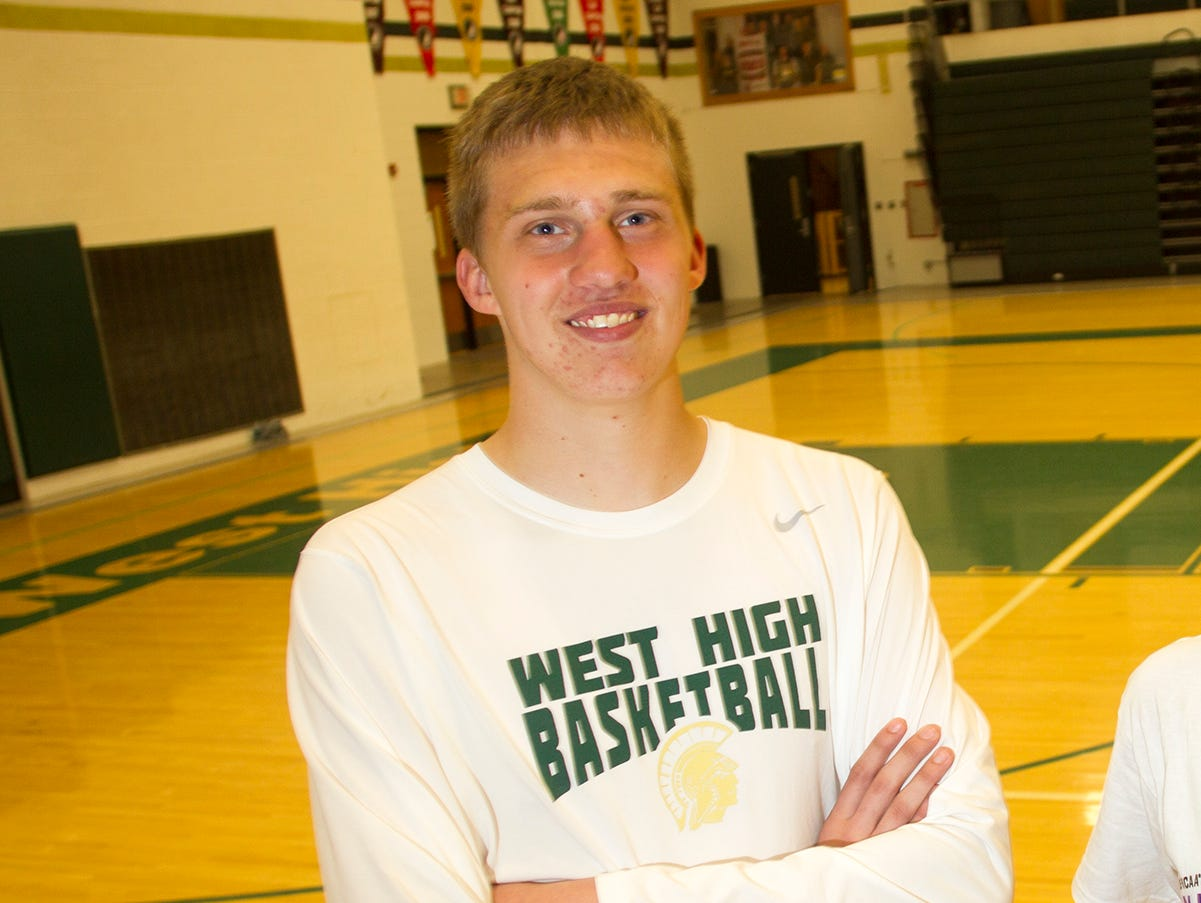 West High's David DiLeo is the Press-Citizen's basketball player of the year.
