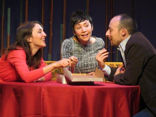 "Susan Maris (left), Lori Vega and Dan McVey co-star in ""Halftime with Don."""