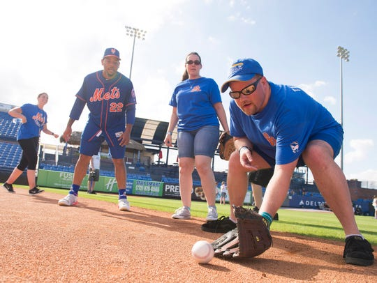 The New York Mets host Special Olympians for the third
