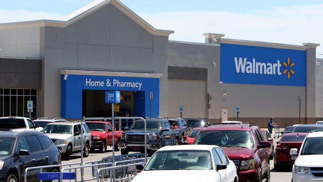 A crowded parking lot at Kelley Highway Walmart, as seen Aug. 18, 2020, in Fort Smith.
