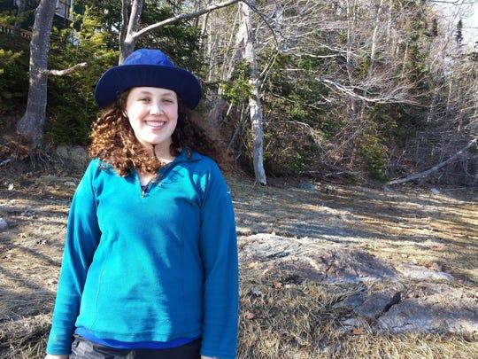 Audrey Dawson, photographed during her spring semester at Coastal Studies for Girls school near Freeport, Maine. Dawson, a Westford resident, is a junior at Essex High School.