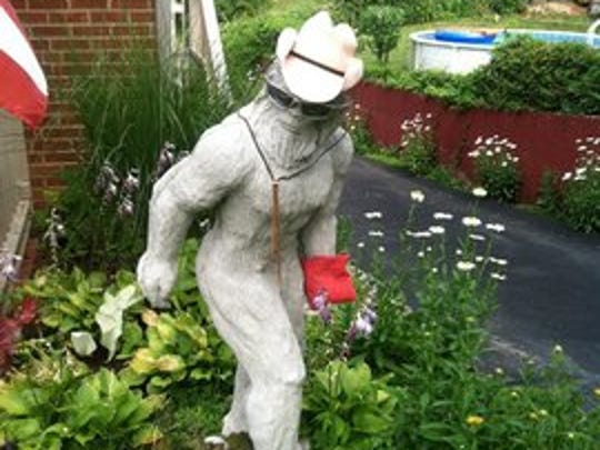 This 400-pound statue was stolen from its Delhi Township