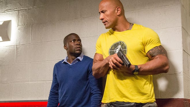 "Dwayne Johnson and Kevin Hart stars in ""Central Intelligence."""