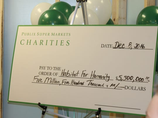 Publix Super Markets Charities donated $5.5 million