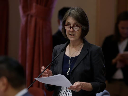 State Sen. Nancy Skinner is facing off against the NCAA, pushing a bill to allow California student-athletes to receive compensation.