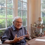 In this file photo, children's book author Maurice Sendak speaks during an interview at his home in Ridgefield, Conn. Ridgefield may be a step closer to hosting a museum honoring Sendak, one of its most famous residents, after voters approved a land sale Tuesday.