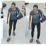 Police are searching for this woman in connection with a wallet and credit card theft.