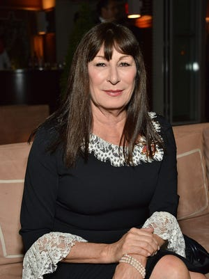 Anjelica Huston attends the Malcolm Gladwell and Lisa and Eric Eisner in support of YES event at Sunset Tower Hotel on October 15, 2014 in West Hollywood, California.