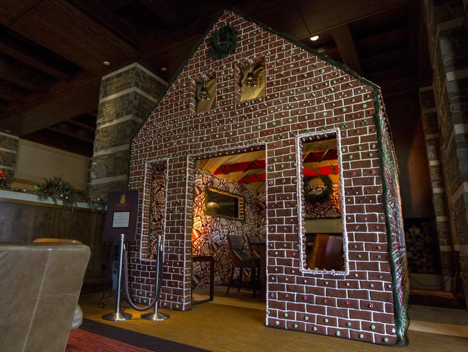 A dine-in gingerbread house is pictured on Wednesday,
