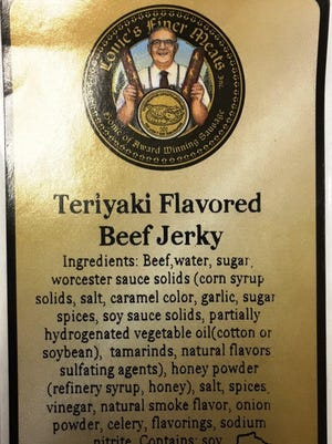 Louie's Finer Meats is recalling teriyaki-flavored beef jerky, because the seasoning used contains wheat, an allergen, and no warning was including on the label.