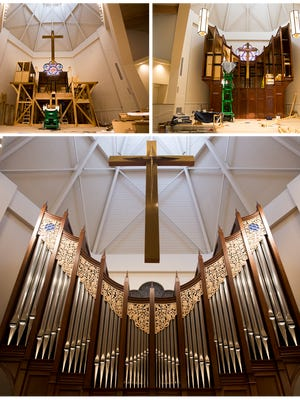 After months and ultimately years leading up to its' completion the pipe organ at Vanderbilt Presbyterian Church the stunning instrument is ready for its' first Sunday service Oct. 22, 2017 in Naples, Fla.