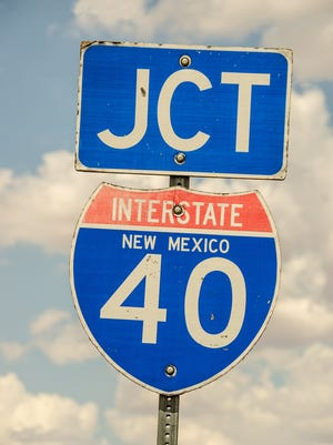 Interstate 40 in New Mexico.