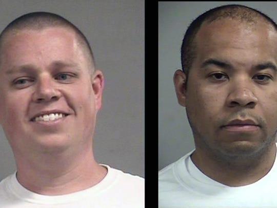 Mug shots of Kenneth Betts, left, and Brandon Wood