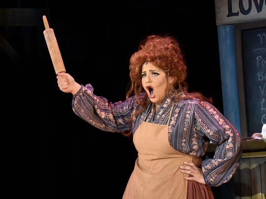 "Singer Jenni Bank played Mrs. Lovett in Tri-Cities Opera's 2016 production of ""Sweeney Todd."""