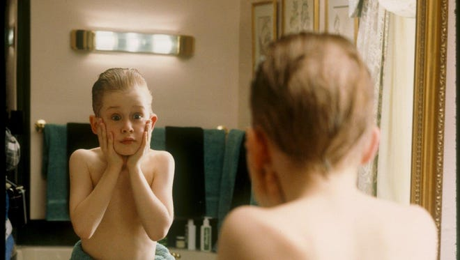 An inspired 10-year-old Macaulay Culkin in 1990's 'Home Alone.'