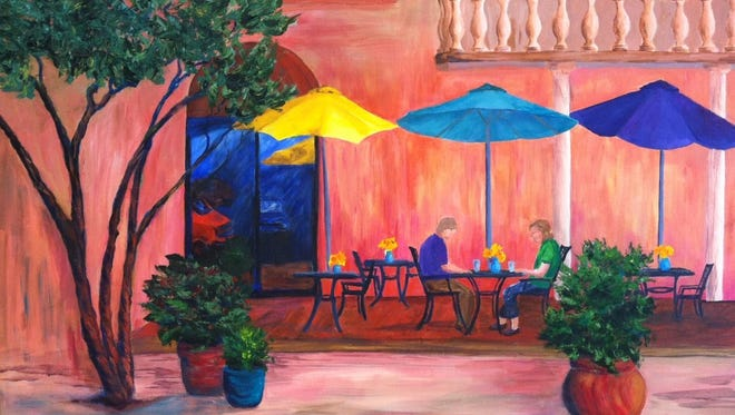 Acacia Cafe, where proprietor Mike Soucier taught me to admire excellence in everyday life. (Painting by Beverly Robb)