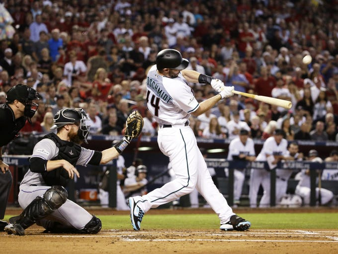 Arizona Diamondbacks Paul Goldschmidt hits a 3-run