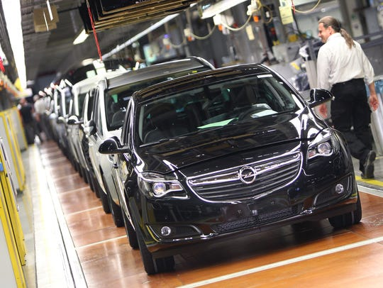 The production facility of German car maker Opel is