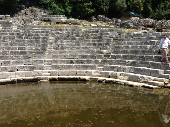 The ancient Greek theater of Butrint held 2,500 spectators.