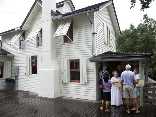 Images from the Lord Baltimore Chapter of the Colonial Dames XXVII Century's dedication ceremony of a new historic marker on Capt. Sewall's Home in Indian RiverSide Park in Jensen Beach on May 4, 2016. The house, built in 1889, is open for free tours from 12 to 2 p.m. each Wednesday in May.