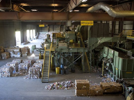 STAR FILE PHOTO Recyclable materials inside Oxnard's Del Norte Regional Recycling and Transfer Station in 2013.