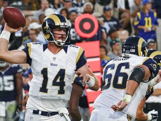 Backup quarterback Sean Mannion has a big fan in in former Rams great Eric Dickerson.