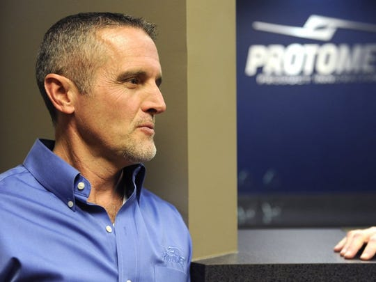 Jeff Bohanan, founder and president of Oak Ridge-based Protomet Corp., said the company plans to expand its facility and add about 200 jobs over the next five years Tuesday, Feb. 2, 2016. Protomet is considering moving out of the Oak Ridge area because of a lack of room to grow further.  (AMY SMOTHERMAN BURGESS/NEWS SENTINEL)