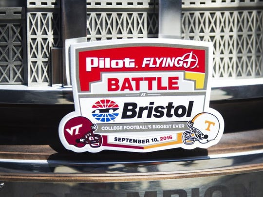 The marketing campaign leading up to Satuday's Pilot Flying J Battle at Bristol football game is likely the biggest campaign the Knoxville-based company has ever done. (CAITIE MCMEKIN/NEWS SENTINEL)