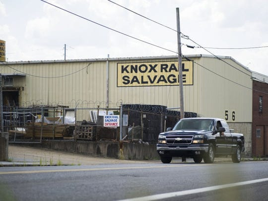 Smokies owner Randy Boyd purchased about 7 acres just east of the Old City from Knox Rail Salvage for $6 million in 2016. (CAITIE MCMEKIN/NEWS SENTINEL)