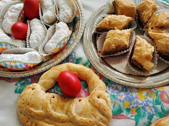 Holy Cross Greek Orthodox Church will hold its annual Greek Bake Sale from 9 a.m. until sold out Saturday at the church. Specialties include Greek bread, baklava, koulouria, kourabiethes and tsourekia.