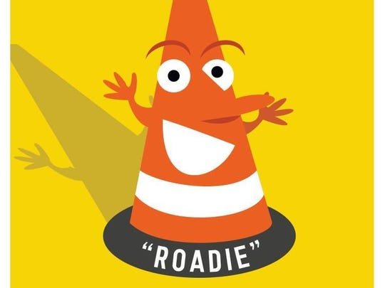 Roadie the Road Cone is the mascot of Richmond's new Paving the Way initiative.