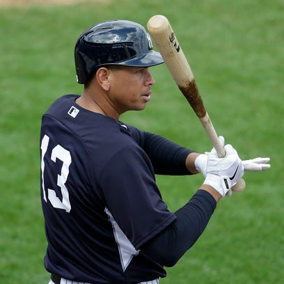 Alex Rodriguez figures to get two or three at-bats